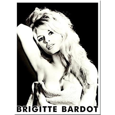 Nostalgic Art Brigitte Bardot  Portrait Magnet 6x8 cm Renkli